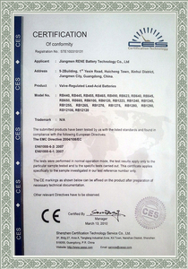 Battery CE certification